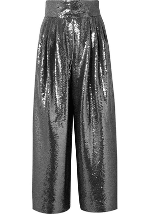 Marc Jacobs - Sequined Tulle Wide-leg Pants - Silver