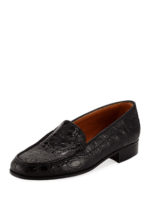 Crocodile Moccasin Flat