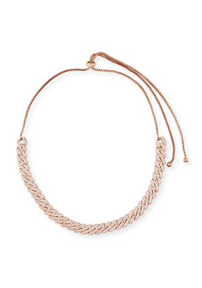Armure Pavé Crystal Curb Chain Necklace