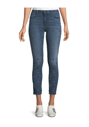 Reina Star-Ice Skinny Crop Jeans