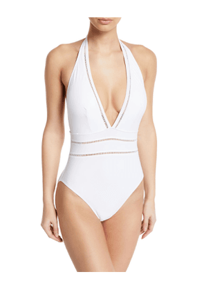 Finesse Plunging Halter One-Piece Swimsuit