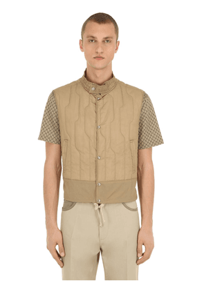 High Collar Quilted Tech Vest