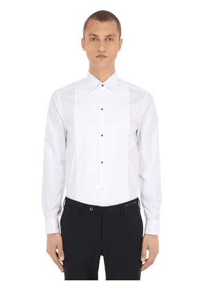 Cotton Piqué Black Tie Shirt