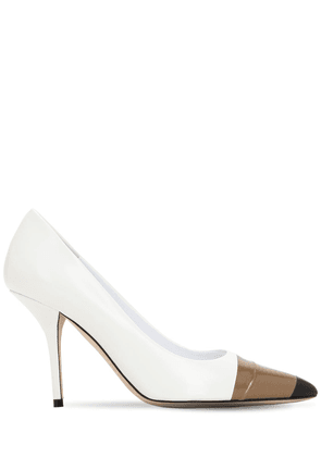 90mm Annalise Leather Pumps