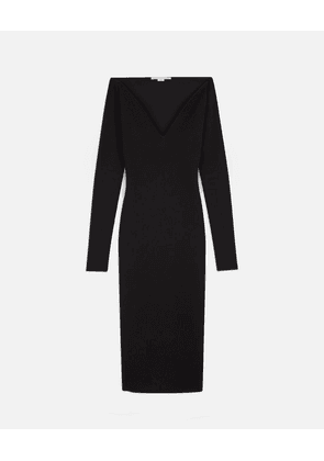 Stella McCartney Black Compact Knit Dress, Women's, Size 8