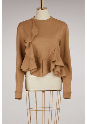 Cotton Frill Sweater