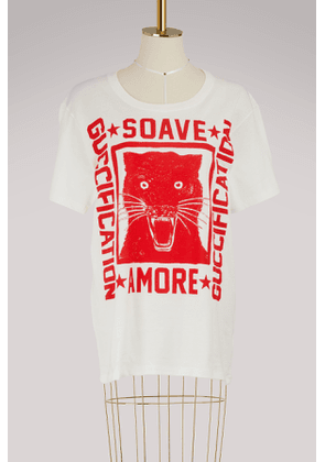 40774c0f240 Gucci. Sequin Guccification headband.  592.   Soave Amore Guccification   print T-shirt