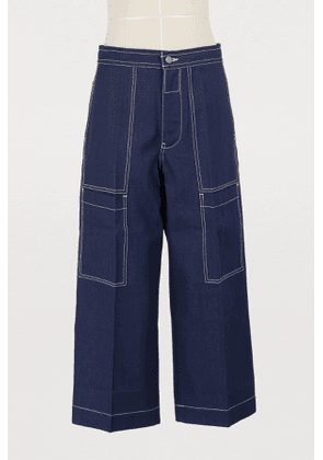 Iron wide-leg jeans