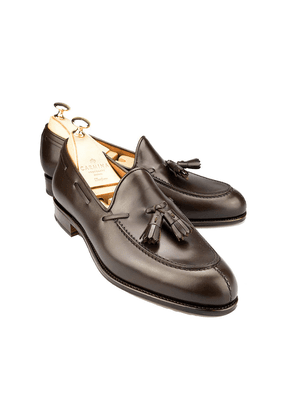 Carmina Brown Leather Tassel Loafers