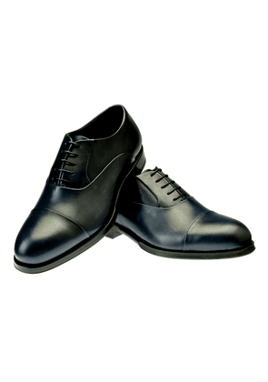 Belsire Blue Ginetto Leather Oxfords