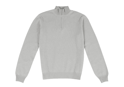 Light Grey Cashmere Tracksuit Sweater