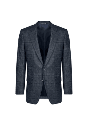 Blue Prince of Wales Check Wool Jacket