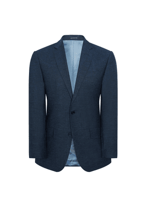 Blue Pindot Wool Hyde Single-Breasted Suit