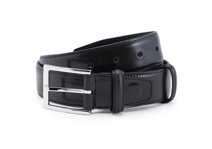 Black Cordovan Leather Belt