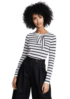 Autumn Cashmere Knotted Maritime Stripe Top