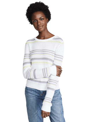 Autumn Cashmere Stripe Crew Sweater
