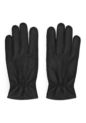 Reiss Rossworth - Leather Gloves in Black, Mens, Size M
