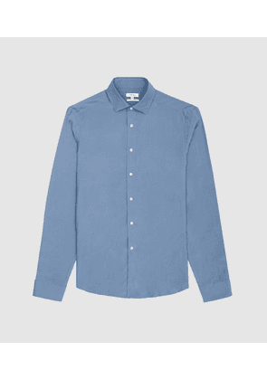 Reiss Hemmi - Slim Fit Shirt in Blue, Mens, Size M