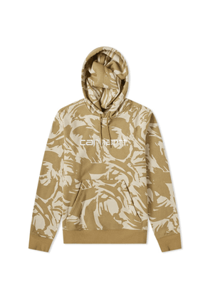 17890bb1dbe06 Carhartt Hooded Embroidered Logo Sweat Camo Brush & White