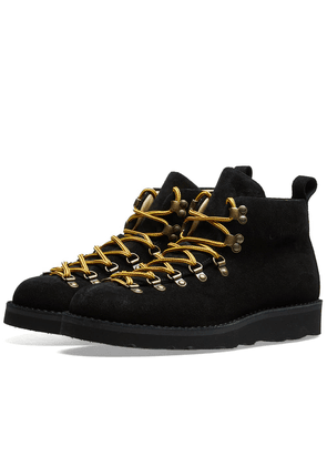Fracap M120 Black Vibram Sole Scarponcino Boot Black