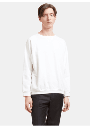 Aiezen AIEZEN Men's Cotton Crew Neck Sweater in White size S