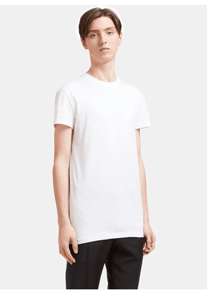 Aiezen AIEZEN Men's Soft Cotton Crew Neck T-shirt in White size S
