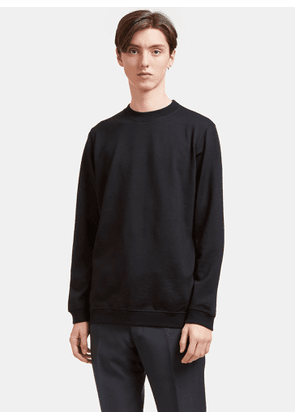 Aiezen AIEZEN Men's Wool blend Long Sleeved Sweatshirt in Black size M