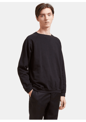 Aiezen AIEZEN Men's Cotton Crew Neck Sweater in Black size S