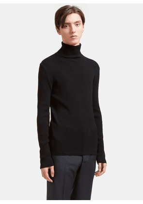Aiezen AIEZEN Men's Ribbed Polo Neck Sweater from SS15 in Black size S