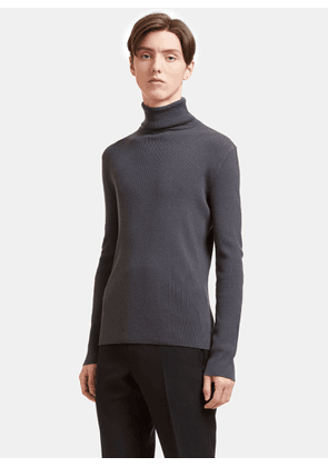 Aiezen AIEZEN Men's Ribbed Polo Neck Sweater from SS15 in Grey size S