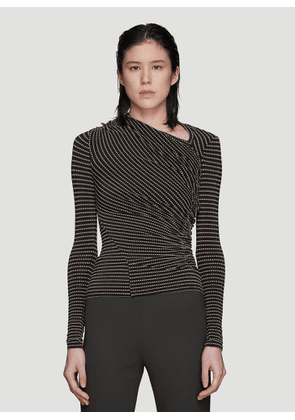 Atlein Striped Boat Neck T-Shirt in Black size FR - 38