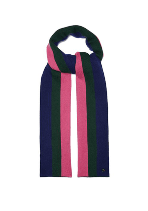 Charlotte Simone - Striped Wool Blend Scarf - Womens - Pink