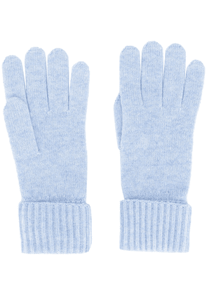 N.Peal ribbed knit gloves - Blue
