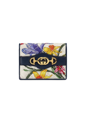 Gucci Flora Print Card Case - White