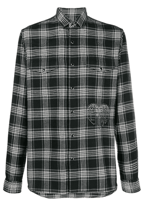 Valentino checked button shirt - Black