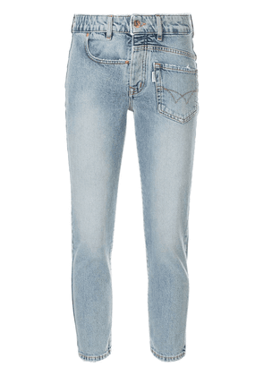 Filles A Papa deconstructed skinny jeans - Blue