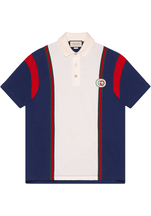 Gucci Polo with Interlocking G patch - Blue