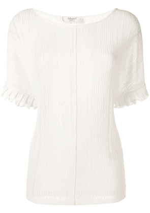 Blugirl short-sleeve embroidered top - White