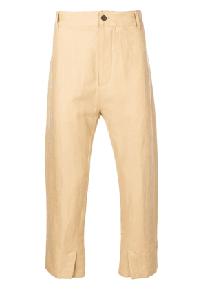 Ann Demeulemeester cropped trousers - Neutrals
