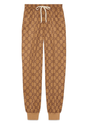 Gucci GG technical jersey jogging pant - Brown