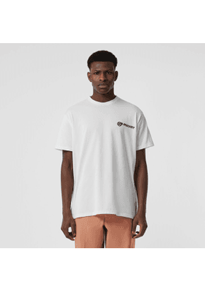 Burberry Logo Print Cotton Oversized T-shirt, White