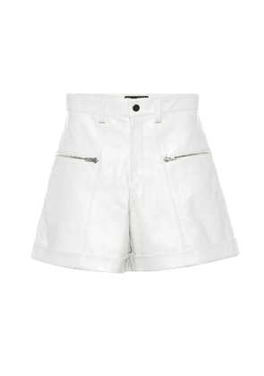 Cedar high-rise leather shorts