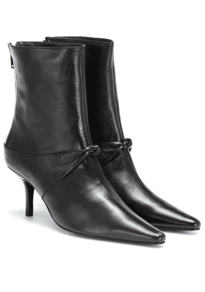 Groupie Knot leather ankle boots