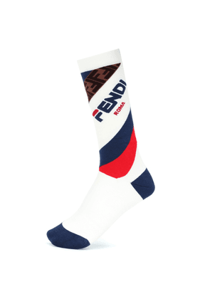 FENDI MANIA cotton-blend socks