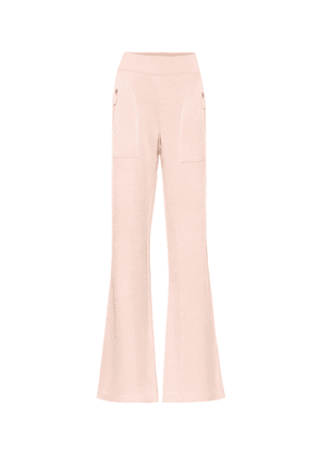Leather-trimmed pants