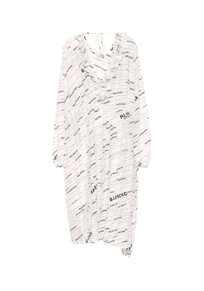 Logo silk midi dress