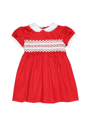 Baby cotton dress and bloomers set
