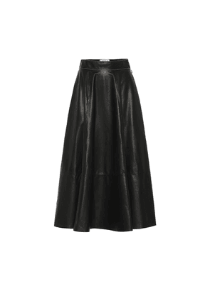Lamb leather skirt