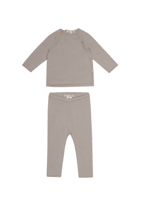 Baby cotton top and pants set