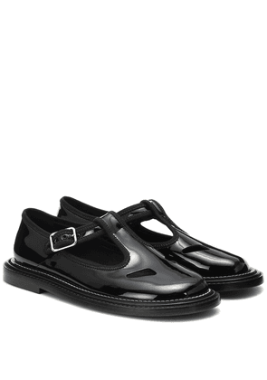 Alannis patent-leather Mary Jane flats
